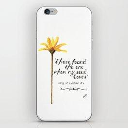 Song of Solomon 3:4 - yellow daisy iPhone Skin