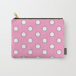 Pink Pastel Polka Dots Carry-All Pouch