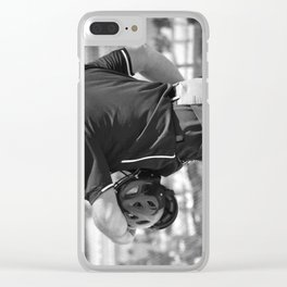 Umpire in Black and White Clear iPhone Case