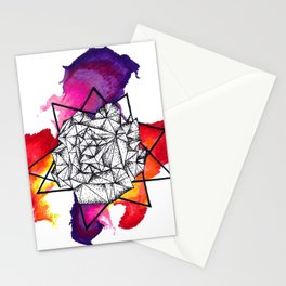 watercolour pen dot work Stationery Cards