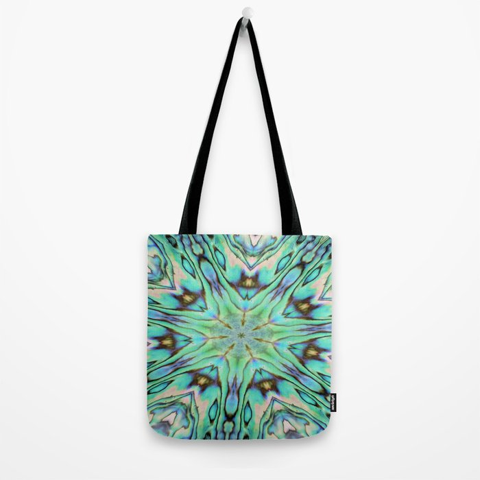 Effervescent Seashell Mandala Abstract Tote Bag