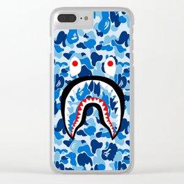 bape blue Clear iPhone Case