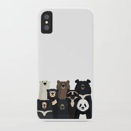 Bear family portrait iPhone Case