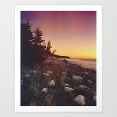 Seaside Sunset Art Print