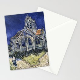 Church At Auvers Sur Oise by Van Gogh Stationery Cards