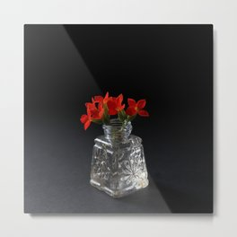 Red Succulent Blossoms Metal Print