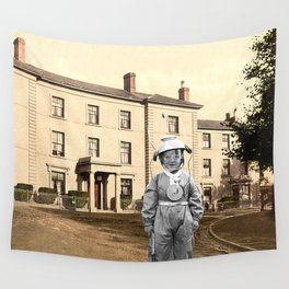 Child Astronaut Wall Tapestry