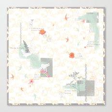 The Wildflower's Garden - Peach Canvas Print