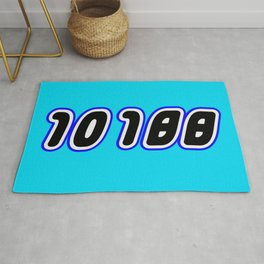 10188 [DEATH STAR] in Brick Font Logo Design [Alternate Colors] by Chillee Wilson Rug