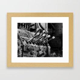 Levers Framed Art Print