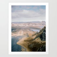 Black send in Iceland Art Print