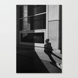 shadow of a walker Canvas Print