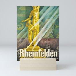 cartaz rheinfelden suisse bains salins cure deaux inhalations argovie Mini Art Print