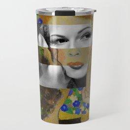 Klimt's The Kiss & Rita Hayworth with Glenn Ford Travel Mug