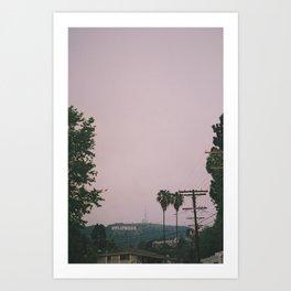 Rainy Hollywood Art Print