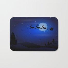 Santa's sleigh ride Bath Mat