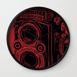 Vintage Rolleiflex (Red/ Black) Wall Clock