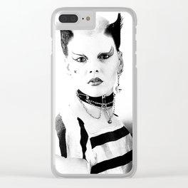 80's Punk Clear iPhone Case