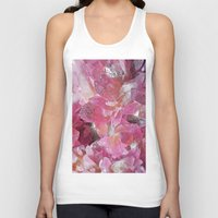 minerals Tank Tops featuring Pink Gemstone by Kristiana Art Prints