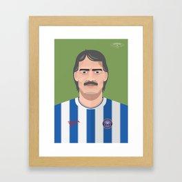 Roy McDonough - Colchester United Legends  Framed Art Print