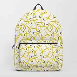 Gold/Yellow ribons with hope wording for childhood cancer awareness Backpack