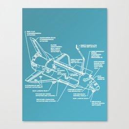Space Shuttle Breakdown Canvas Print