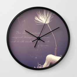 It all starts with A wish  Wall Clock