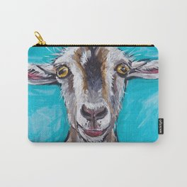 Goat Art, Colorful Farm Animal Carry-All Pouch