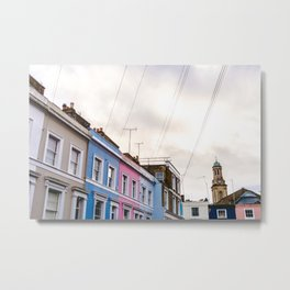 Dreamy Sky over Notting Hill, London Metal Print