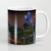 cityscape Mugs featuring Cityscape by Jonas Ericson