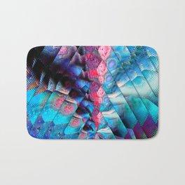 abstract blue triangles Bath Mat