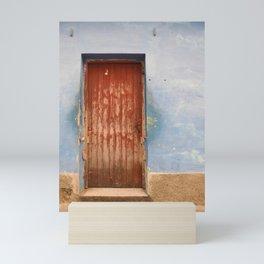 Havana Cuba Island Tropical Caribbean Latin Old Wooden Door Doorway Stucco Art Print Mini Art Print