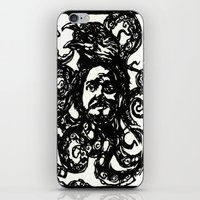 christian iPhone & iPod Skins featuring Christian by Hanna Virdarson