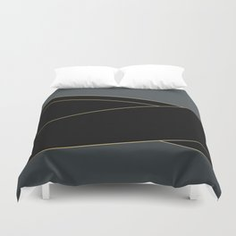 Angelica . Grey and black tape Duvet Cover
