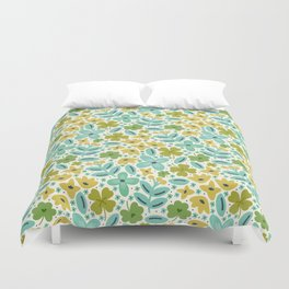 Clover & Floral Field Duvet Cover
