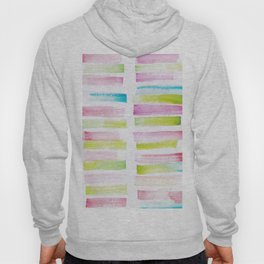 21  | 181101 Watercolour Palette Abstract Art | Lines | Stripes | Hoody