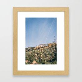 Hollywood Sign Los Angeles Framed Art Print