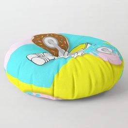 Astro Donut Dumbbell | Astronaut | Cosmonaut | pulps of wood Floor Pillow