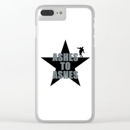 ASHES TO ASHES - BOWIE Clear iPhone Case