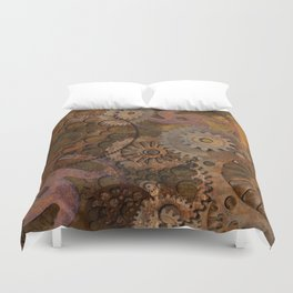 Changing Gear - Steampunk Gears & Cogs Duvet Cover