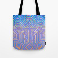 tron Tote Bags featuring Tron-ish by Roberlan Borges