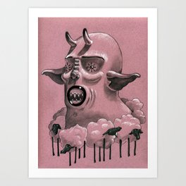 .Sheep.Neck. Art Print