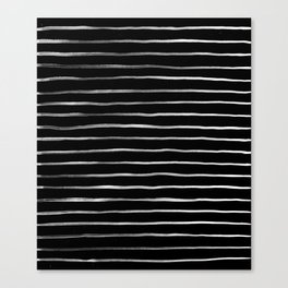 White in Black Lines Canvas Print