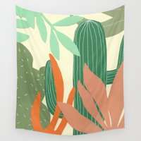 cactus Wall Tapestries featuring Cactus by Florent Manelli