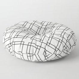 Simply Mod Diamond Black and Cream Floor Pillow