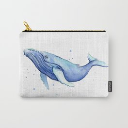 Humpback Whale Watercolor Animal Painting Nursery Animals Carry-All Pouch