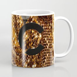 glamour vintage earrings black gold Coffee Mug