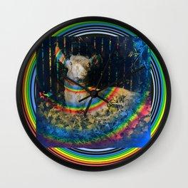 Deer Rainbow Wall Clock
