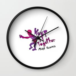 Keep It Together (Zombie Motivational)(white back) Wall Clock
