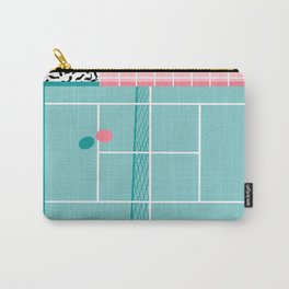 Baller - tennis sports retro pastel palm springs vacation athlete full court memphis style throwback Carry-All Pouch